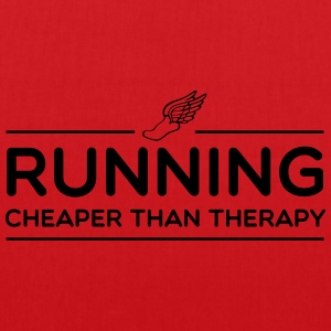 Running Cheaper Than Therapy T-Shirts - Tote Bag