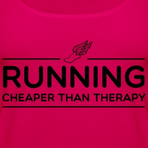 Running Cheaper Than Therapy T-Shirts - Women's Premium Tank Top