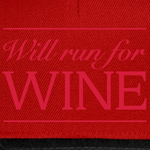 Will Run For Wine T-Shirts - Snapback Cap