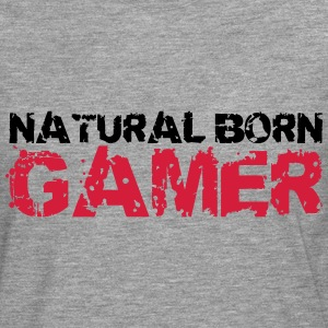 Natural Born Gamer T-Shirts - Männer Premium Langarmshirt
