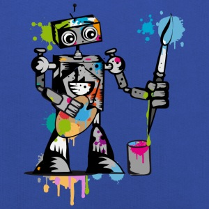 A robot with a brush  Shirts - Kids' Premium Hoodie