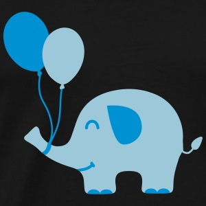 Sweet Funny Baby Elephant with Balloons Long Sleeve Shirts - Men's Premium T-Shirt
