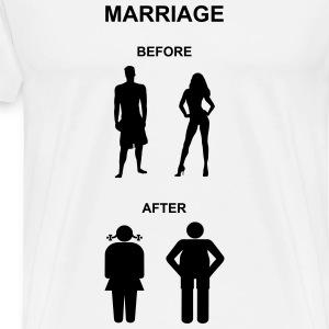 Marriage before / after Langarmshirts - Men's Premium T-Shirt