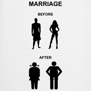 Marriage before / after T-Shirts - Förkläde