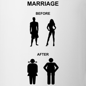 Marriage before / after T-Shirts - Mugg