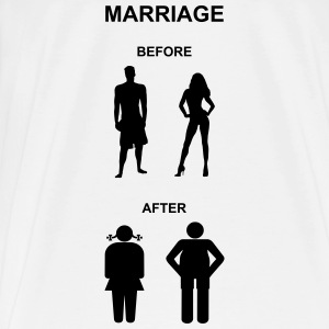 Marriage before / after Tops - Herre premium T-shirt