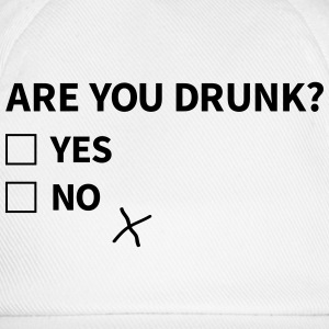 are you drunk er du drukket Topper - Baseballcap