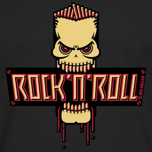 Rock 'n' Roll Skull T-Shirts - Men's Premium Longsleeve Shirt