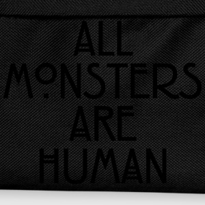 All monsters are human T-shirts - Rugzak voor kinderen