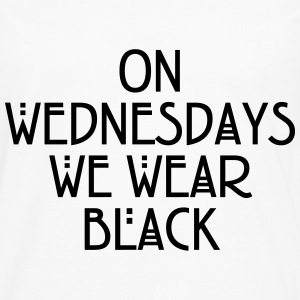 On wednesdays we wear black T-shirts - Mannen Premium shirt met lange mouwen