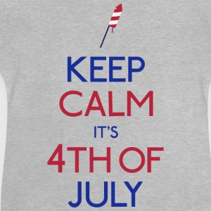 keep calm 4th of july holde ro 4 juli Skjorter - Baby-T-skjorte