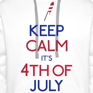 keep calm 4th of july Bags & Backpacks - Men's Premium Hoodie