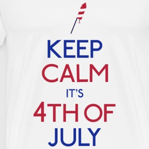 keep calm 4th of july holde ro 4 juli Vesker & ryggsekker - Premium T-skjorte for menn