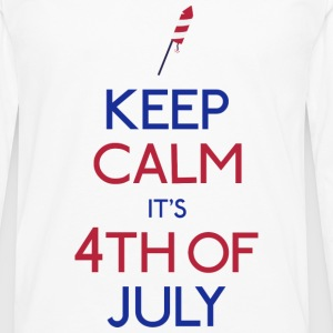 keep calm 4th of july holde ro 4 juli Vesker & ryggsekker - Premium langermet T-skjorte for menn