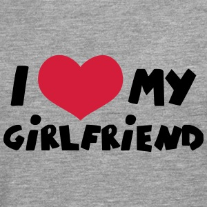 I Love my Girlfriend Comic Toon T-Shirts - Männer Premium Langarmshirt