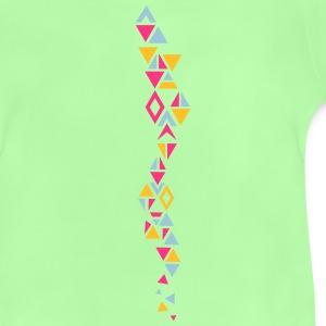 An elongated pattern with different triangles Hoodies - Baby T-Shirt