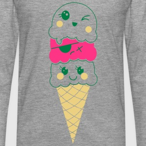 icecream-kawaii1 Tops - Männer Premium Langarmshirt