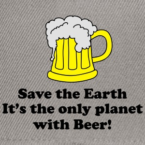 save earth and beer T-Shirts - Snapback Cap