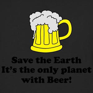 save earth and beer Polos - T-shirt manches longues Premium Homme