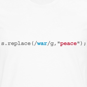 replace war with peace Sweatshirts - Herre premium T-shirt med lange ærmer