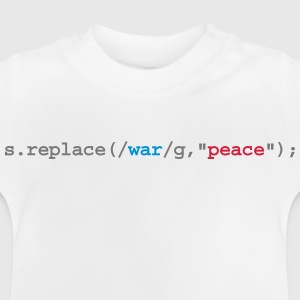replace war with peace Long Sleeve Shirts - Baby T-Shirt