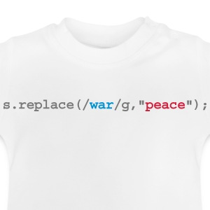 replace war with peace Langærmede shirts - Baby T-shirt