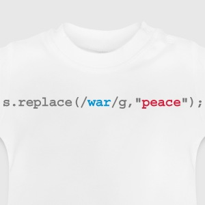 replace war with peace Camisetas - Camiseta bebé
