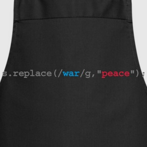 replace war with peace Camisetas polo  - Delantal de cocina