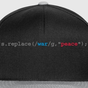 replace war with peace Camisetas polo  - Gorra Snapback