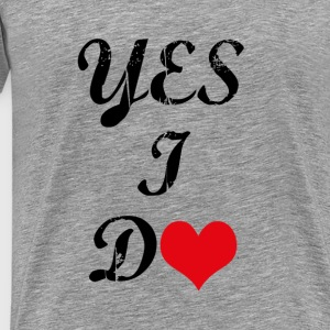 would you marry me-yes i do Tops - Men's Premium T-Shirt