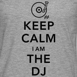 keep calm i am deejay dj Tank Tops - Camiseta de manga larga premium hombre