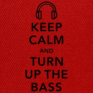 keep calm and turn up the bass T-shirts - Snapback cap