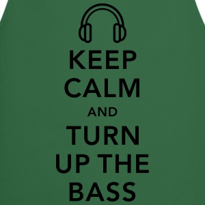 keep calm and turn up the bass T-Shirts - Kochschürze