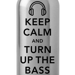 keep calm and turn up the bass T-shirts - Drinkfles