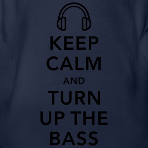 keep calm and turn up the bass Shirts - Organic Short-sleeved Baby Bodysuit