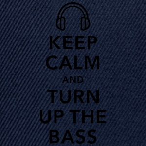 keep calm and turn up the bass Camisetas - Gorra Snapback