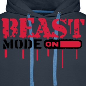 Beast Mode On An Blut Graffit T-Shirts - Men's Premium Hoodie