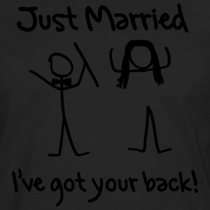 Just Married I've Got Your Back T-Shirts - Men's Premium Longsleeve Shirt