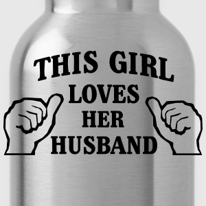 This Girl Loves Her Husband T-Shirts - Water Bottle