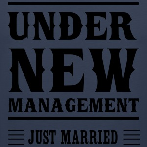 Under New Management Just Married T-Shirts - Men's Premium Tank Top