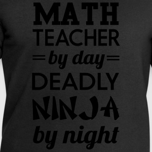 Math Teacher by Day Deadly Ninja by Night T-Shirts - Men's Sweatshirt by Stanley & Stella