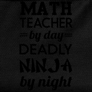 Math Teacher by Day Deadly Ninja by Night T-Shirts - Kids' Backpack
