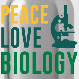Peace Love Biology T-Shirts - Water Bottle
