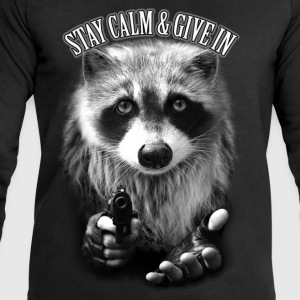 Noir STAY CALM & GIVE IN Tee shirts - Sweat-shirt Homme Stanley & Stella