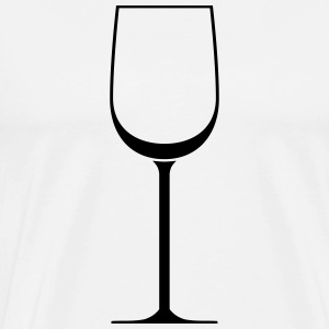 White wine glass - T-shirt Premium Homme