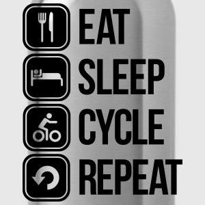 eat sleep cycle repeat T-Shirts - Water Bottle