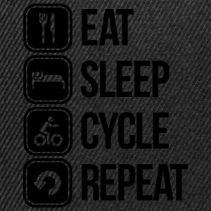 eat sleep cycle repeat T-Shirts - Snapback Cap