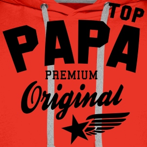 Original TOP PAPA - Premium Vater Design T-Shirts - Men's Premium Hoodie