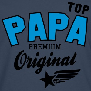 Original TOP PAPA - Premium 2 Color Dad Sweaters - Mannen Premium shirt met lange mouwen