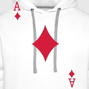Ace Playing Card T-Shirts - Men's Premium Hoodie